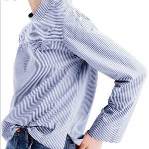 J Crew Funnel Neck Stripe Shirt size 4